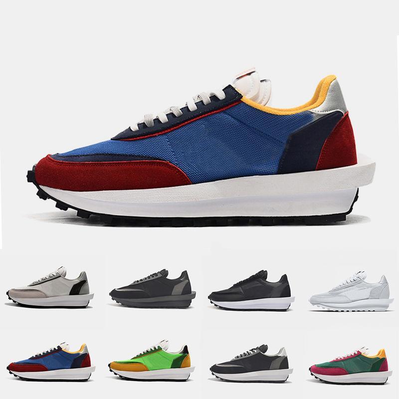 Nueva Varsity Blues Sacai X LDV galleta para hombre de los zapatos corrientes para las mujeres lobo gris Triple Negro White Pine verde Gusto exterior zapatillas deportivas