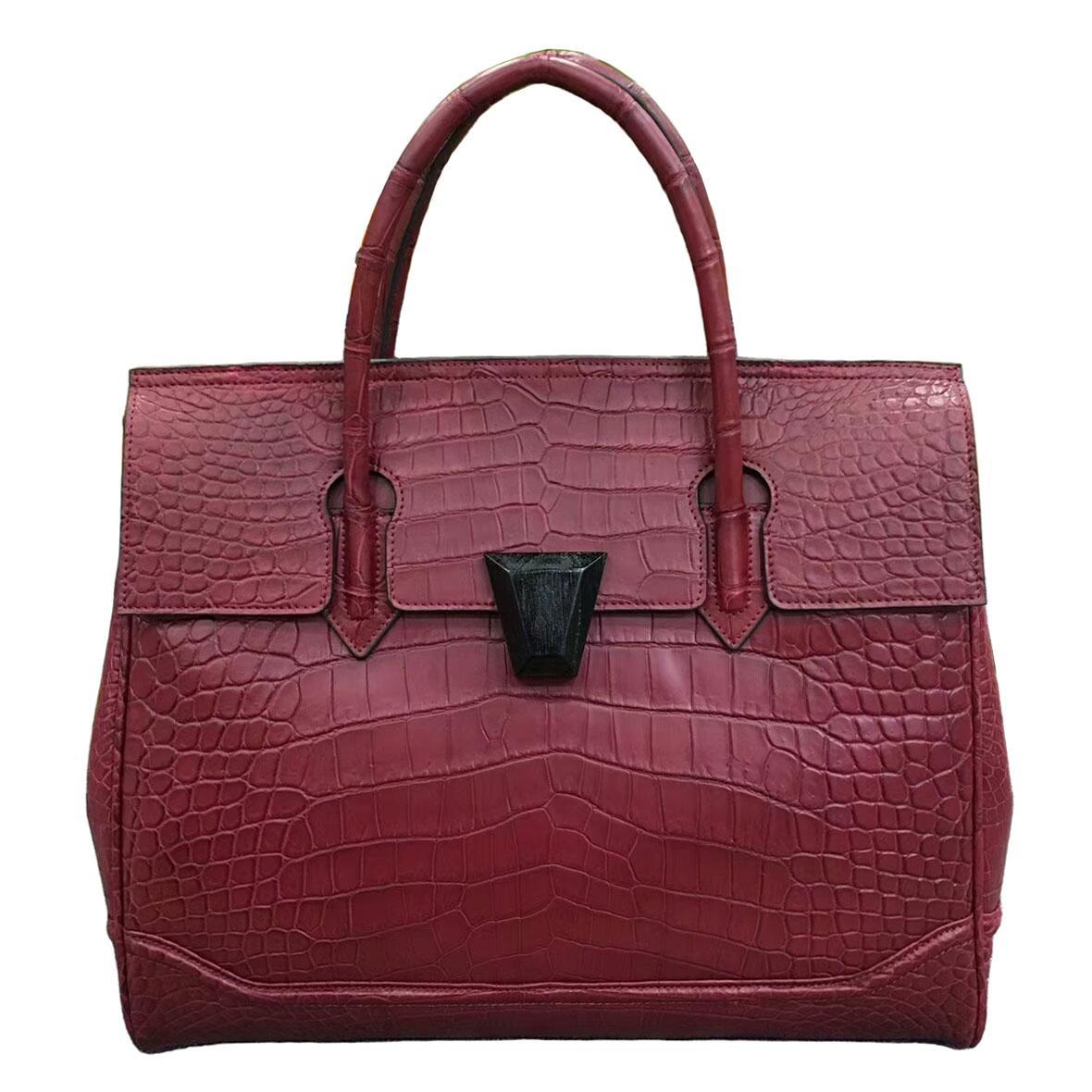 Crocodile Belly Womens Hand Bag Leather Hand Cross Bag Bag Business Shoulder Crocodile Leather Leisure
