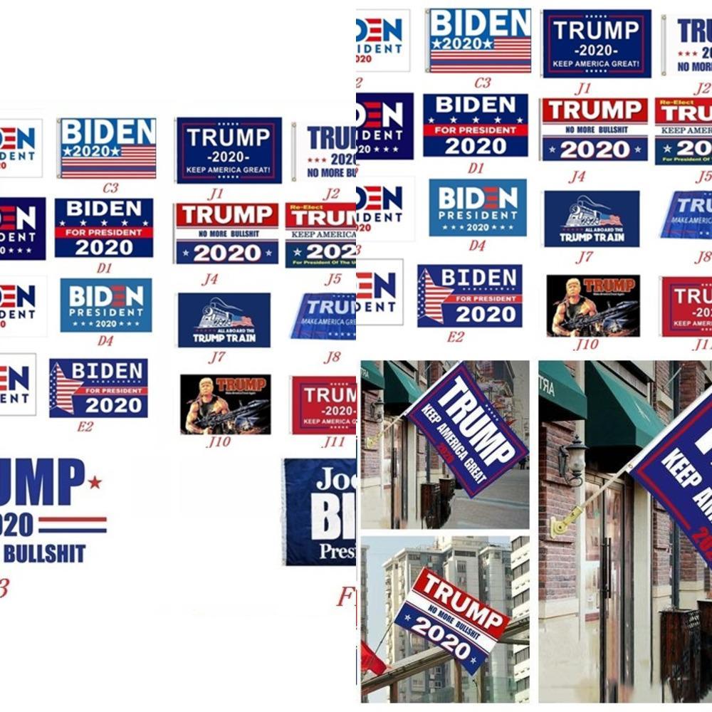 150 * 90cm Trump Bayrak Trump 2020 Amerika Başkanı Seçim Bayrakları Amerika Büyük Yine Banner Biden Bayrağı ile Deniz Nakliye 6104-6 tutun