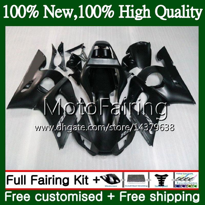Kit para YAMAHA YZF R6 98 YZF600 YZFR6 98 99 00 01 02 88MF15 YZF 600 YZF-R600 YZF-R6 1998 1999 2000 2001 2002 Carenado Carrocería Mate negro