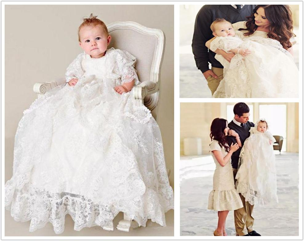 Baby Girl Dress Christening Baptism Gowns Flower Girl Dresses With Hat US Stock