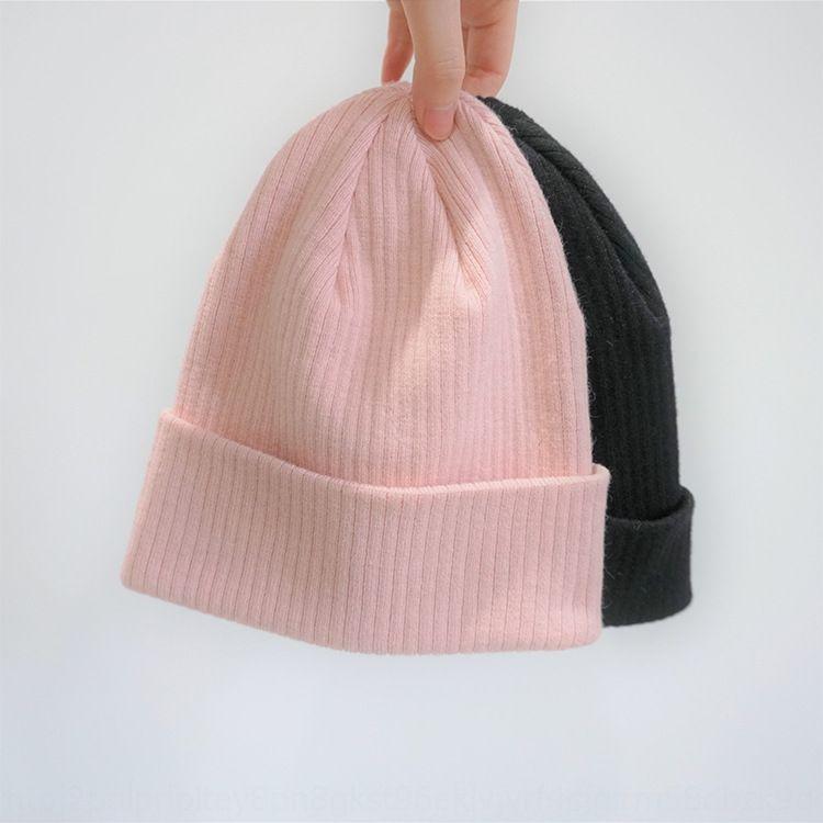 1 kalite hafif yün Sıcak örme Kazak örme şapka pembe Siyah temel sıcak soğuk geçirmez ay şapka kazak