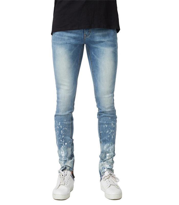 Мужские промытые Весна 19ss новые джинсы мода мужской карандаш брюки Мужские брюки