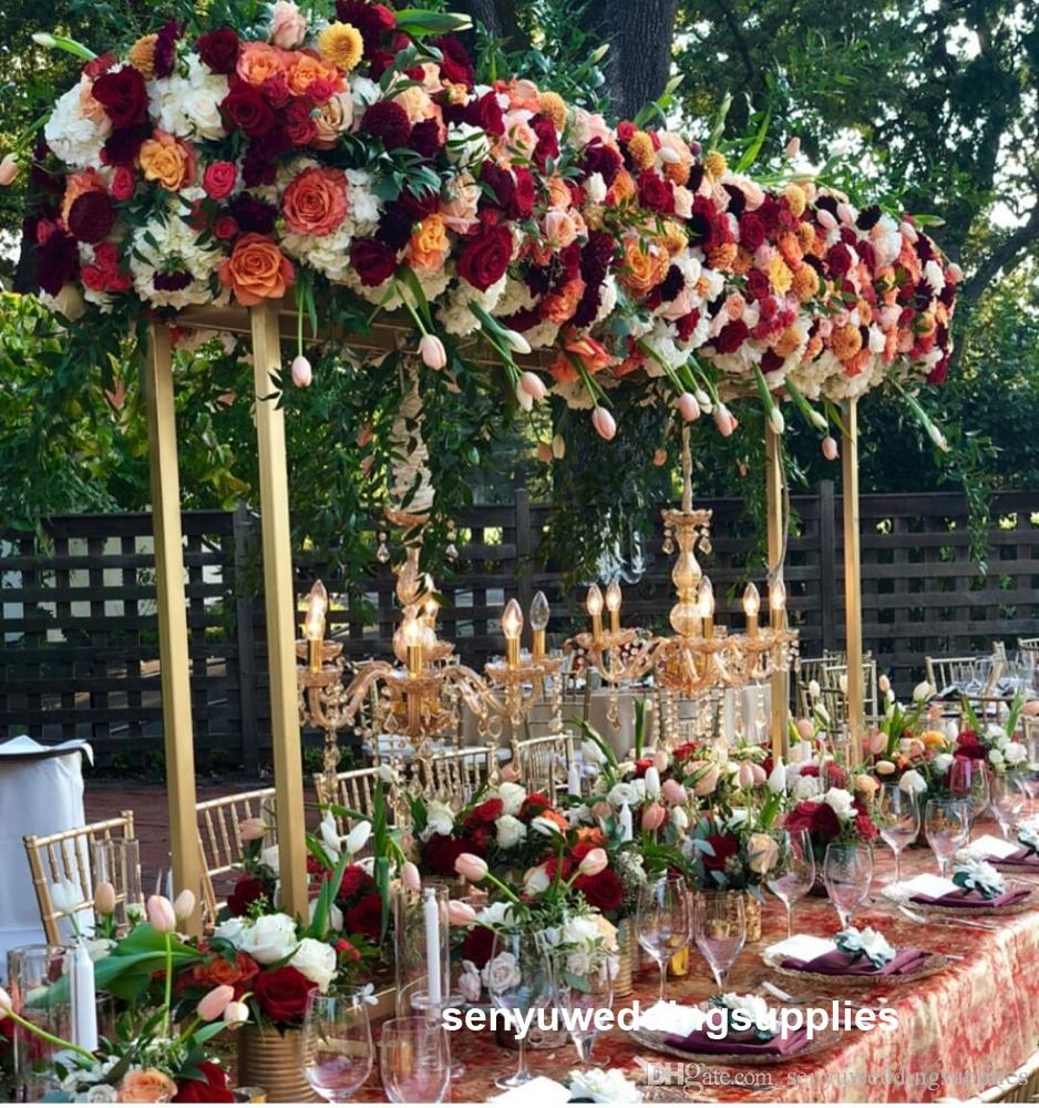 New Popular Arches Backrops Set Trending Metal Wedding Arch New Wedding Backdrop For Event table Decor From senyu Wedding Store senyu0461