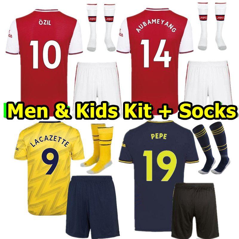 2020 Football Away Kids Adults Kits Soccer Jersey Strip Training Suits+Socks