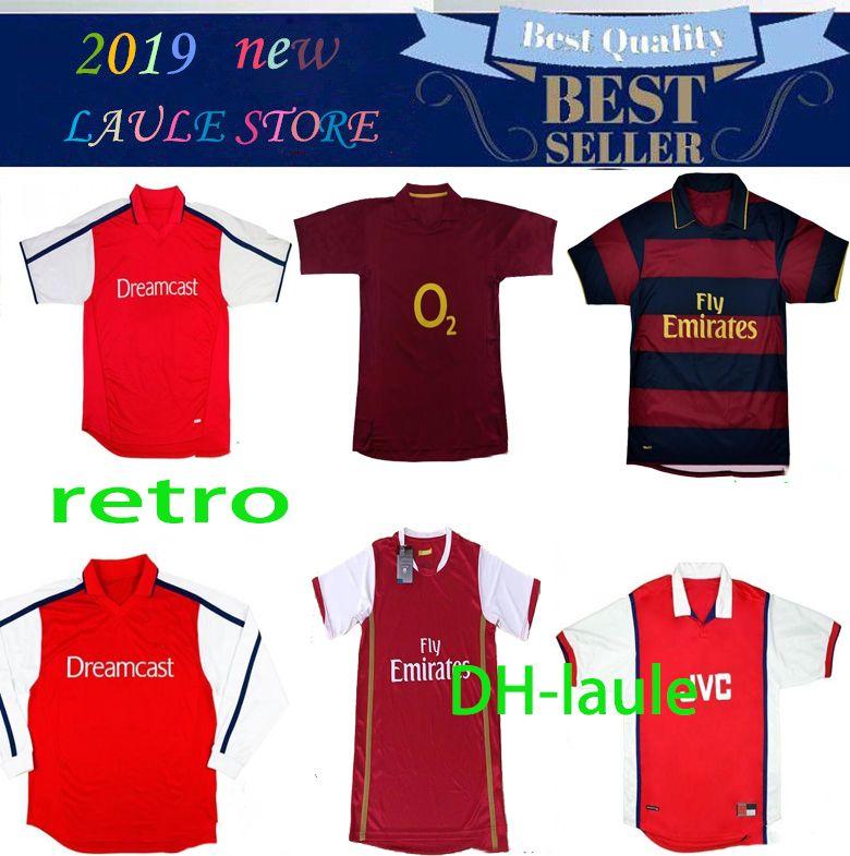 1994 96 artillero Bergkamp retro jersey de fútbol 97 98 99 91 1993 Wright Henry v.Persie 00 01 05 06 07 08 ARSENAL antigua camisa de fútbol