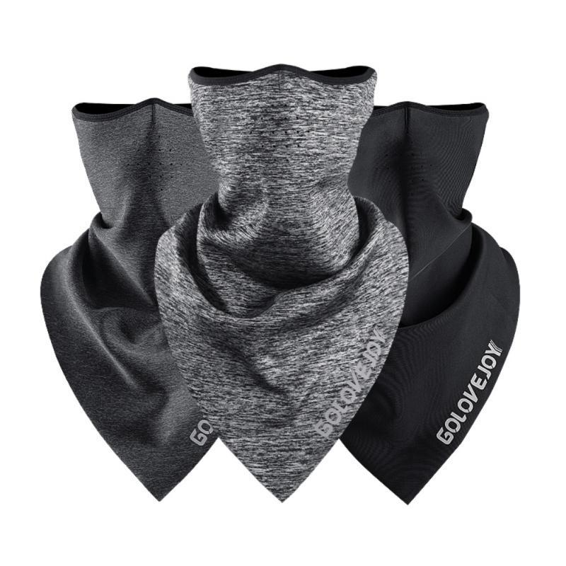 Maschera Vello Ciclismo faccia del triangolo della sciarpa Sciarpa Bandana Copricapo scaldacollo traspirante volto copertina sci Pesca Equitazione Facemask