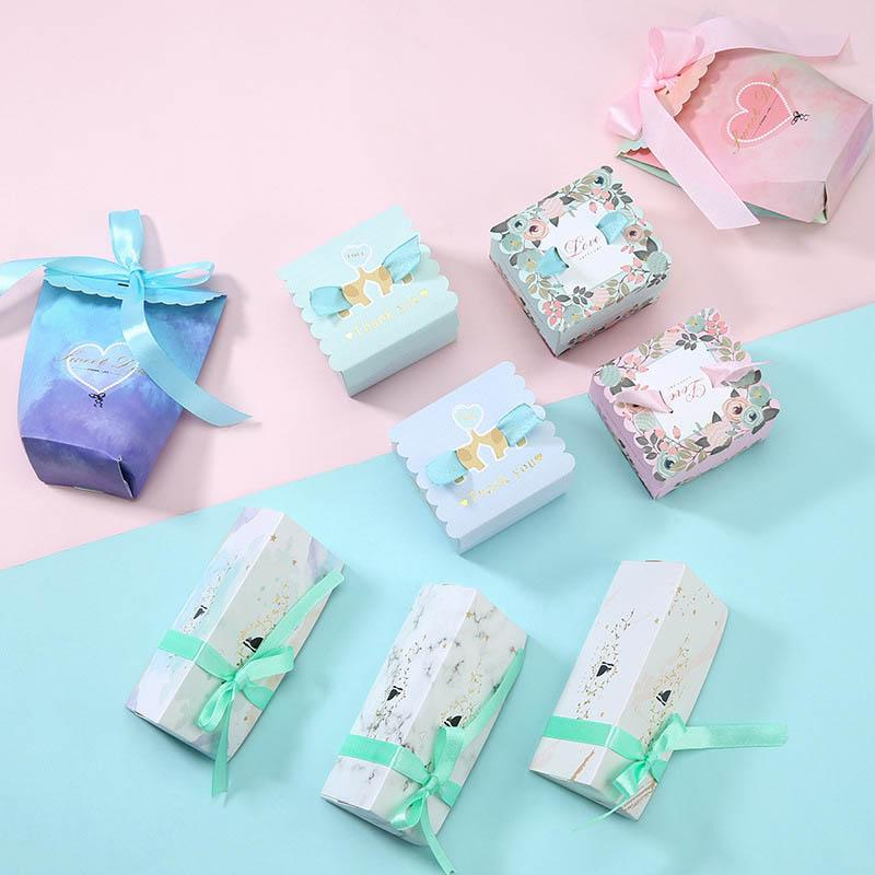5 pcs printed candy box wedding party gift candy box wedding decoration