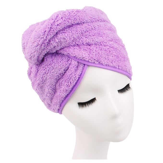 ГОРЯЧИХ всасывания сухой Cap волос Главных Душевые Cappurple Другой Ванна Туалет принадлежность