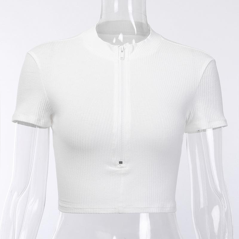 2020 mujeres Streetwear camiseta blanca mujeres de la camiseta del cuello de O camisetas mujeres del estilo coreano de manga corta Camisas de mujer