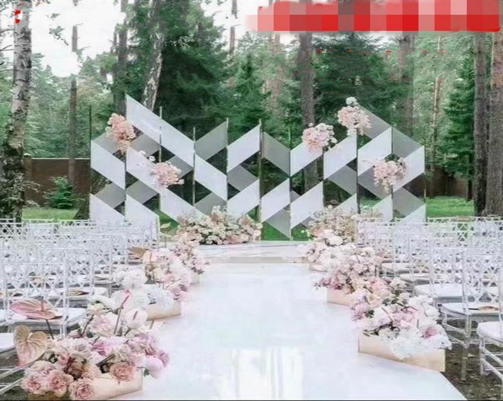 زفاف جديد يرتكز يفضلون اللون الأبيض مرآة السجاد الممر عداء 1M 1.2M 1.5M 2M واسعة الزفاف خلفية الديكور الدعائم اطلاق النار