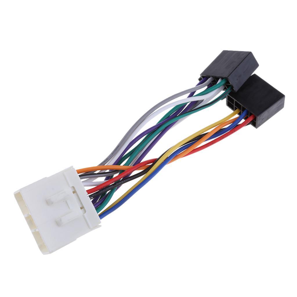 Para el adaptador de conector de mazo Subaru Impreza Forester Outback ISO cableado