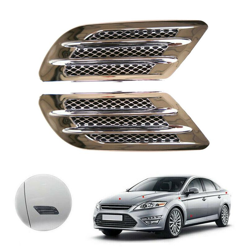 Car Side Air Flow Vent Hole Covers Fender Intake Grille Duct Decor Sticker ABS