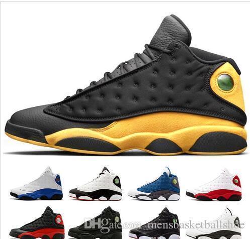Pas cher En Gros NOUVEAU 13 XIII OG Chat Noir Tout Noir 13s chaussures de basket-ball baskets de sport US13