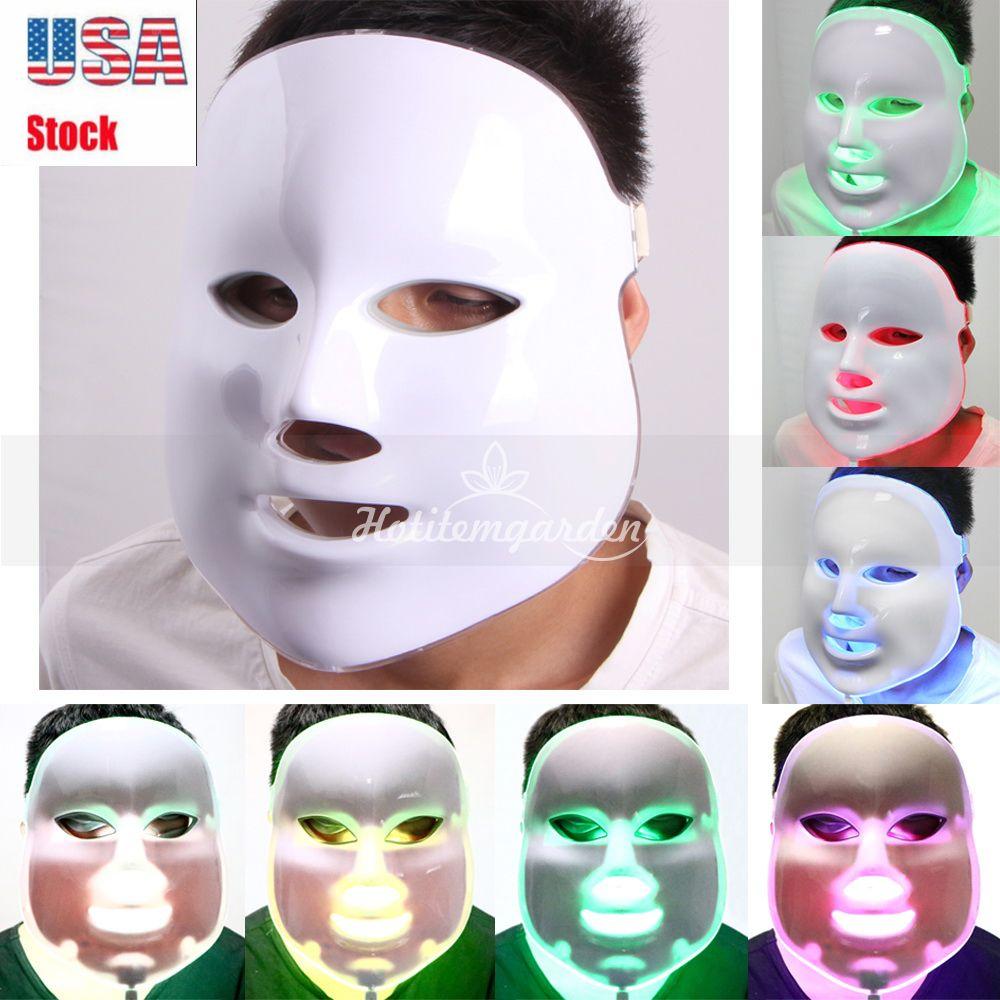 Новый светодиодный Фотон маска LED Photon Therapy Массажер для лица Средства по уходу за кожей лица Очиститель для очистки оборудования Лечение акне Бесплатная доставка