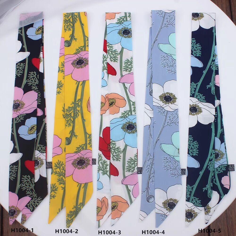 Automne nouvelle écharpe style coréen ins fleur arbre simple branche dame simulation soie des femmes petites foulards gros 90cm