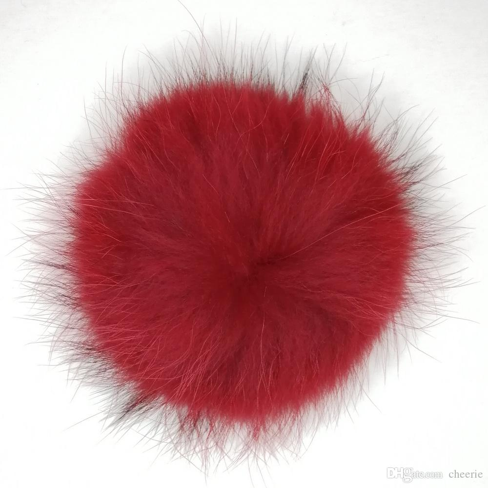 Hat Racoon Fur Accessories Real Raccoon Fur Ball Plush Pompon for beanie pompom ball many colours