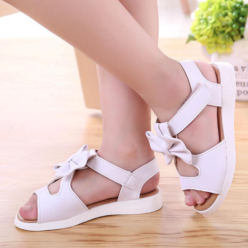 Moda ragazze di Bowknot piatto Pricness Scarpe Estate Bambini I bambini dei sandali di modo ragazze di Bowknot piatto Pricness scarpe abiti estate