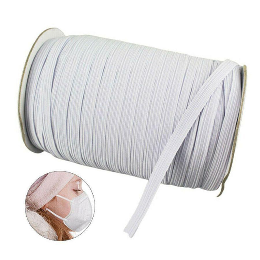 230m Masks Elastic Band Sewing 3/6mm Face Mask Flat Elastic Bands Rubber Bands For Month Face Mask Pajamas Ties Accessories DIY