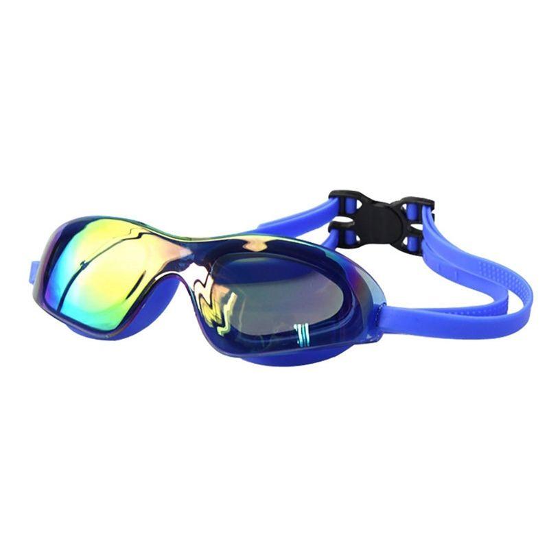 السباحة نظارات النساء الرجال المهنية سيليكون مطلي عدسة مقاوم للماء واقية من الغبار المضادة للضباب المضادة للأشعة فوق البنفسجية نظارات نظارات نظارات الكبار