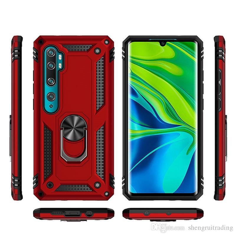 Caixa de telefone armadura para Xiaomi 9T CC9 Nota 10 CC9E CC9 A3 9 Lite 9T 9S para Redmi K20 Pro Anel de carro Suporte