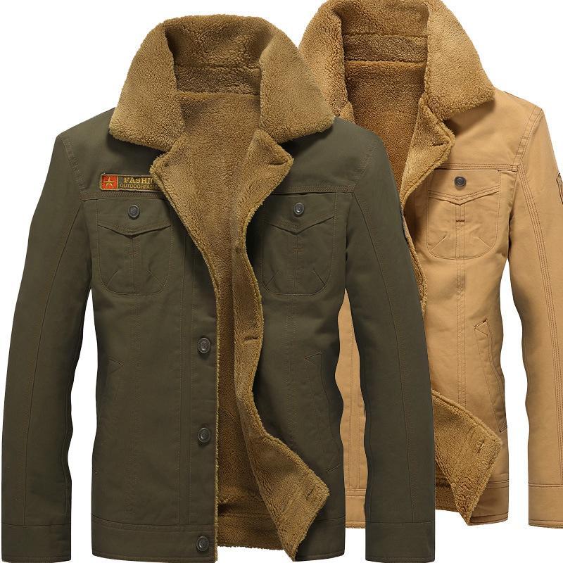 Men Fashion Designer Cappotti 2020 di nuovo arrivo Mens inverno spesso giacche di marca di colore solido del risvolto sottile casuale Giacche Giacche Uomo Formato più