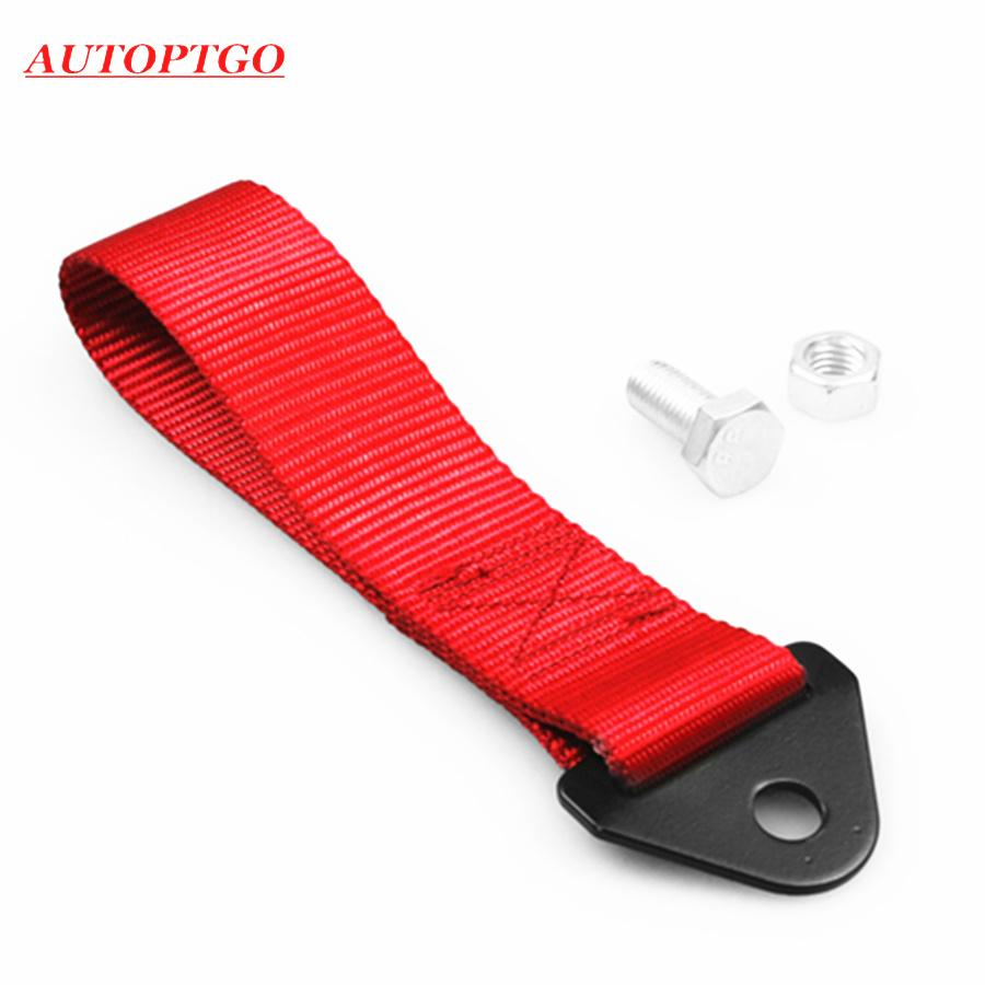 Car JDM Racing Front Bumper Hook Towing Strap Rope For Honda Mazda Toyota Kia Bmw Audi Nissan Tow Ropes