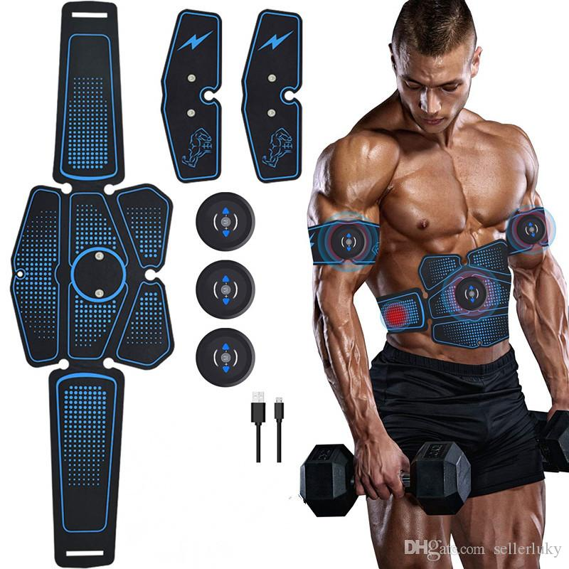 البطن العضلات مشجعا المدرب ems abs معدات اللياقة البدنية التدريب والعتاد العضلات electrostimulator الحبر ممارسة في المنزل الجمنازيوم