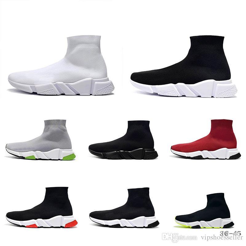 BalenciagaSockshoesLuxuryBrandDesignershoes NEW Designer Mode für Männer Frauen Speed Trainer Socken Schuhe schwarz weiß rot Freizeitschuhe Rose Trainer Männer Runner