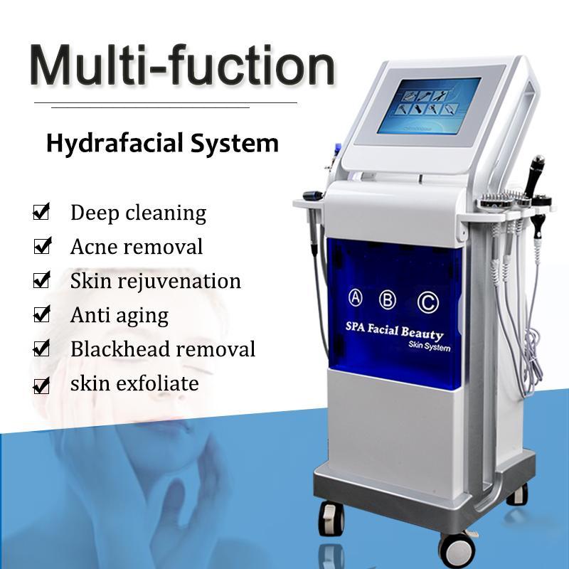 9 Dans 1 vertical Hydra visage eau Hydradermabrasion visage propre machine pour Spa DHL gratuit Shiping