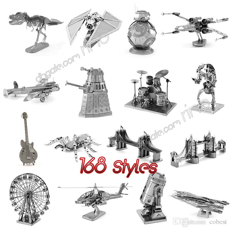 3D metal puzzles blocks millennium falcon jigsaw metal model kids DIY r2d2 spaceship building puzzle for kids adult birthday gifts