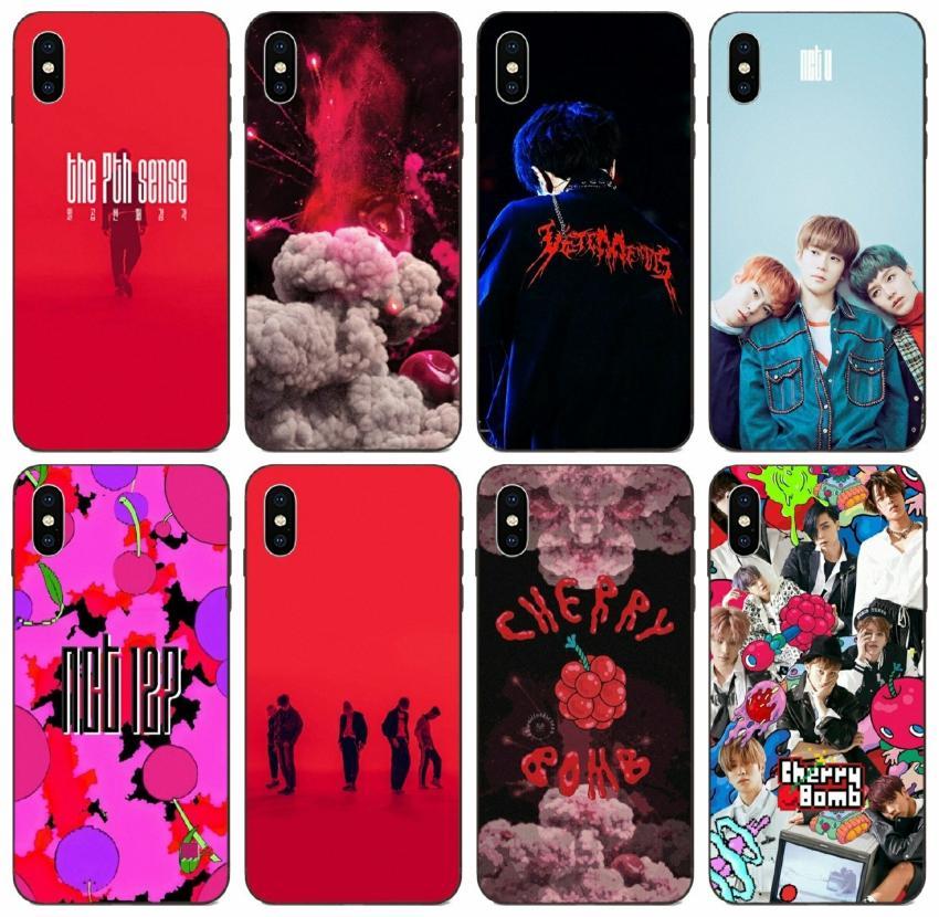 [TongTrade] peints Nct Kpop bandes de cas pour l'iPhone 12 11 Pro 8 7 6 5 Plus X XS Max XR Galaxy A8 A9 Pro Star Honor 7A Pro redmi Note 7