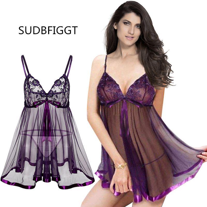 Les femmes sexy lingerie HOT Voir-sexe par dames Lingerie féminine pleines feuillets de dentelle Taille plus 6XL