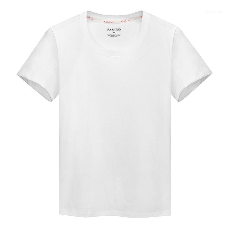 Designer T-shirts cor sólida manga curta Crew Neck Tops solto pulôver Masculino Casual Tees Mens Verão