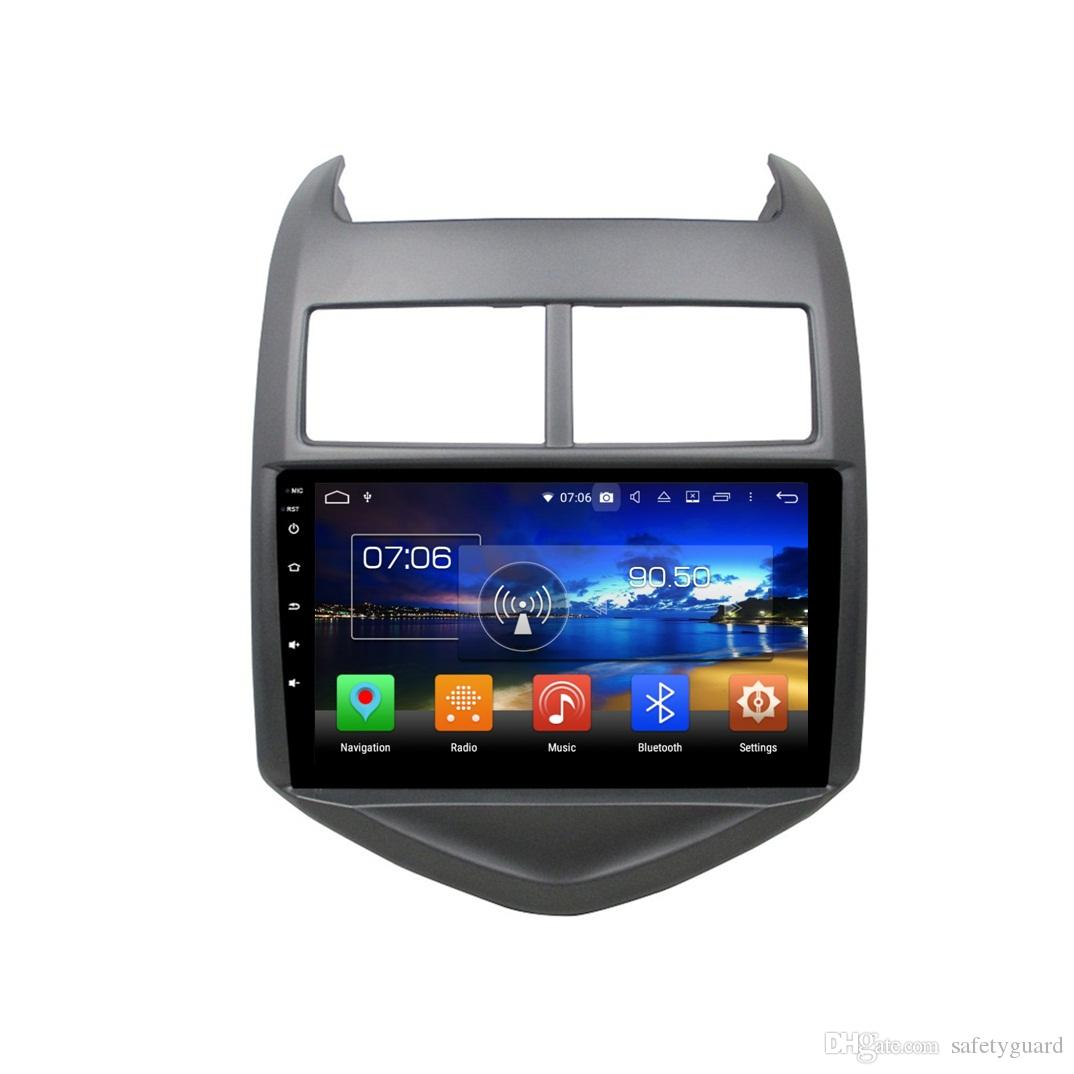 """8 Core PX5 4GB+64GB Android 8.0 HD 9"""" Car DVD GPS for Chevrolet AVEO 2011 2012 2013 2014 2015 Stereo Radio Bluetooth WIFI Mirror-link USB"""