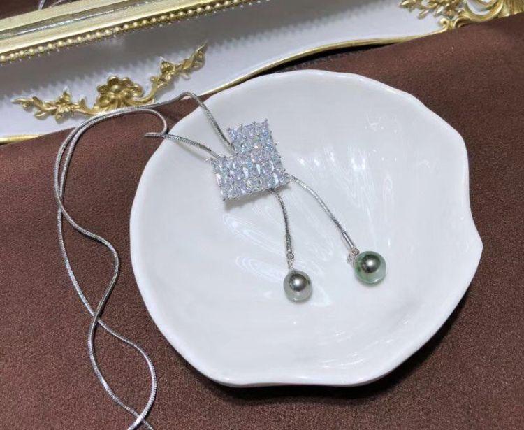 Сверкающих сердце кулон ожерелье держатель 14 К золото заполненные сердце стиль свитер длинная цепь настройки SilverGold цвет 3 шт./Лот