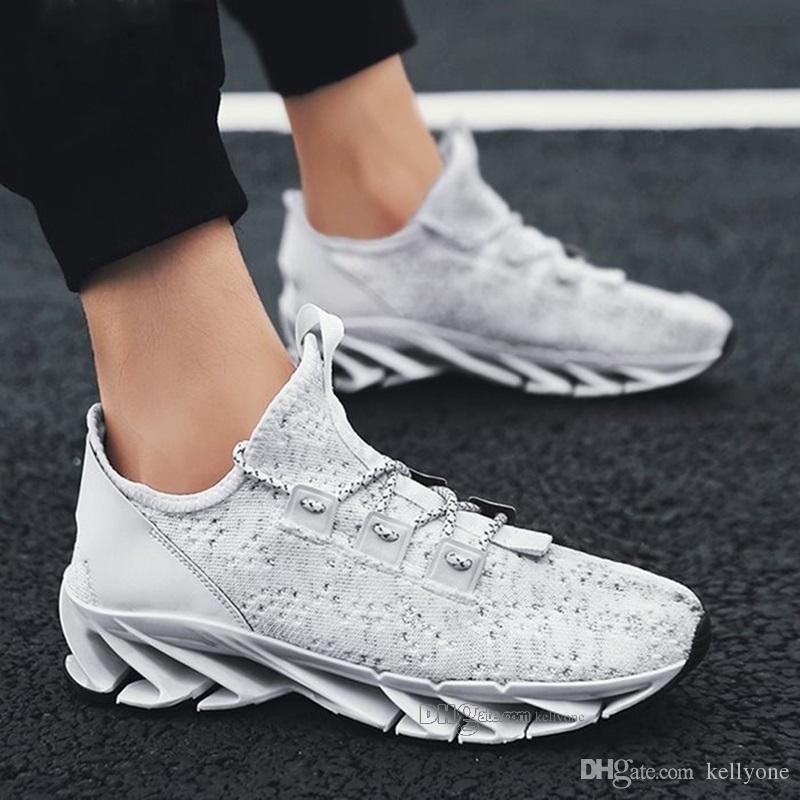 Homens de alta qualidade barato Fashion Shoes malha respirável Sneakers Passeio masculino do Calçado de Nova confortável leve Running Shoes A-200301198