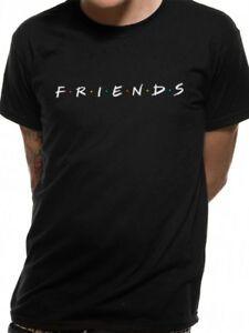 Amis Logo officiel NBC Comedy Series TV Noir Mens T-shirt
