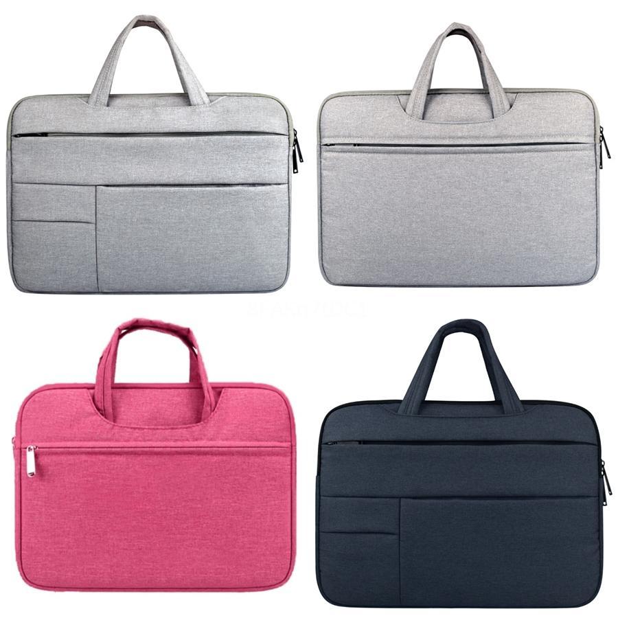Notebook imperméable manches 11,6 12 13,3 15 15,4 pouces pour ordinateur portable en cuir Sac pochette er Pour Macbook Air Pro 11 12 13 15 Case Sy001 Sh190924 # 823