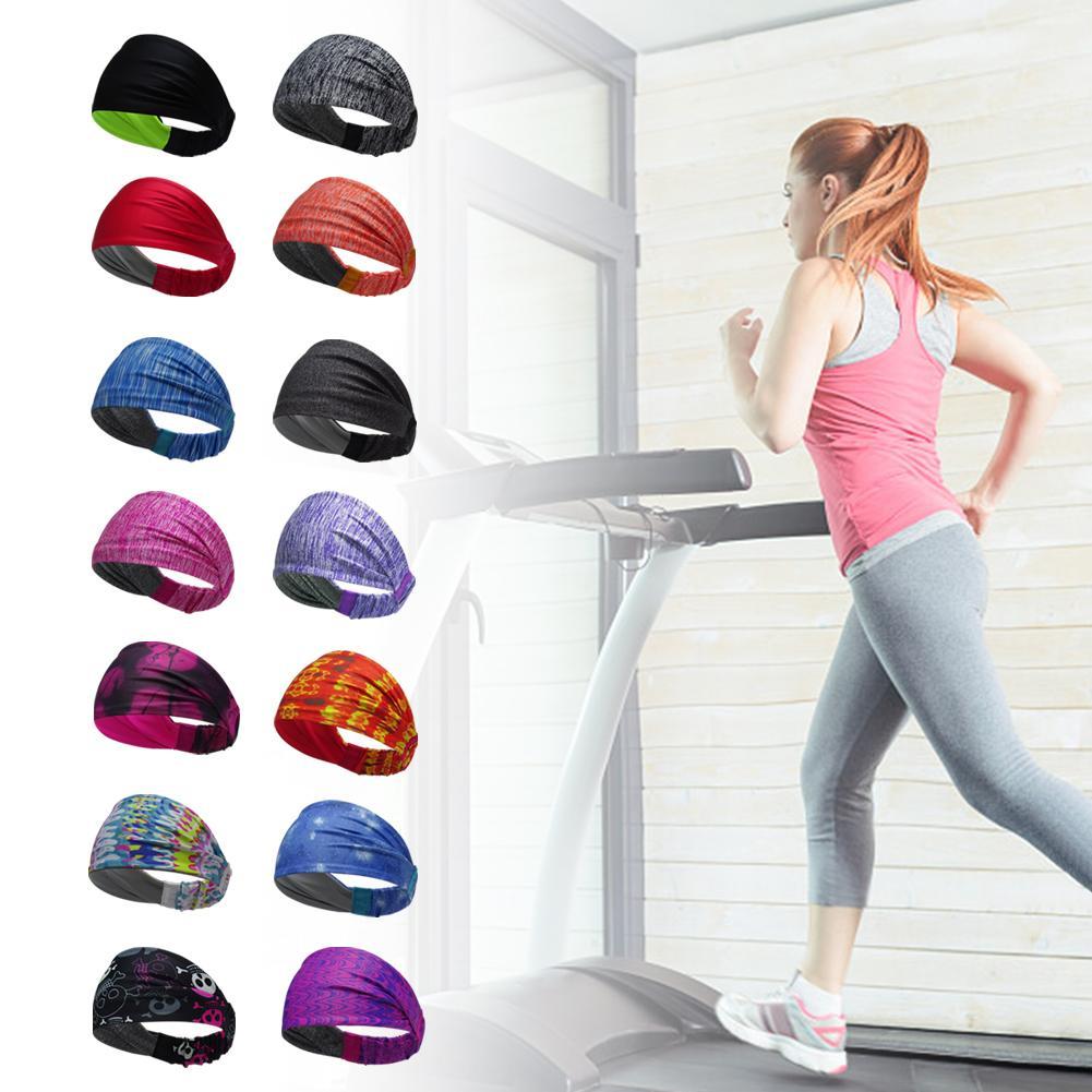 Women Mens Stretch Sweat Sweatband Headband Yoga Gym Stretch Head Band For Sport