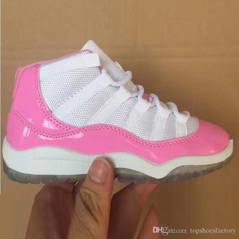 Nike Air Jordan 11 basketballshoes 11 shoes Concord Gym Kırmızı Basketbol Ayakkabı Çocuk Boy Kız Beyaz Pembe Midnight Tasarımcı Sneakers Bebekler Doğum Hediye Bred