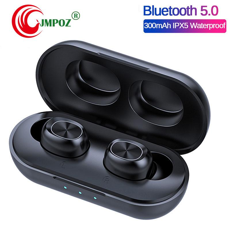 B5 TWS cheap Wireless Earbuds Waterproof Stereo in-ear audifonos Headphones Bluetooth Touch Control Earphone with 300mAh Charging Box