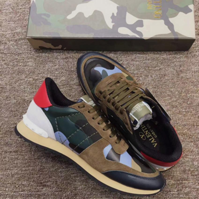 [Con box] HottValentinoscarpe casual classico moda scarpe da tennis casuali piedi Marca progettisti delle donne degli uomini i sandali esterni di business