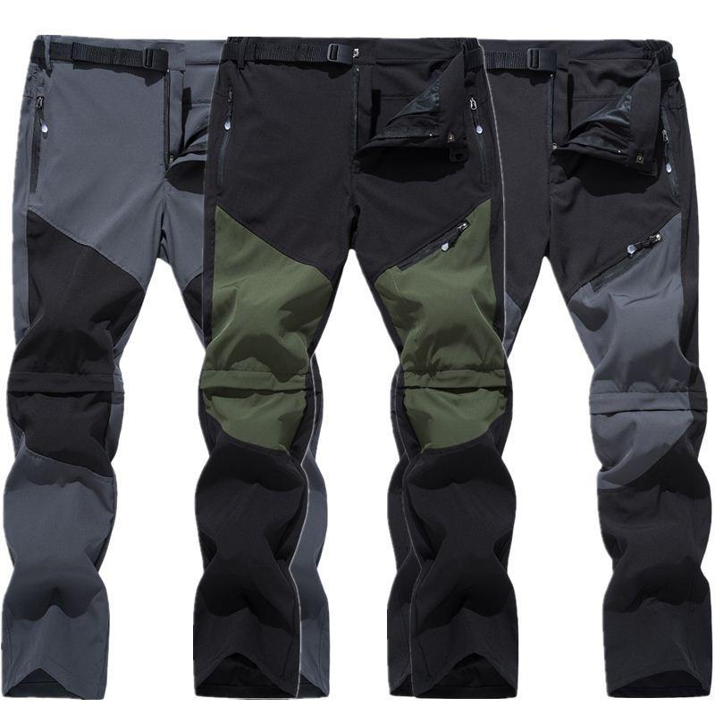 Pantalones al aire libre Seco rápido Senderos Senderos Pantalones cortos para hombre Verano Pantalones transpirables Masculina Montaña Camping Subir C