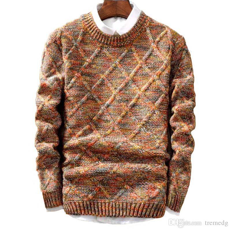 Sweatshirts Sweats-Sweats Hommes Men Marque Pullover Homme Stripe Stripe Slim Fit Tricot Sweaters Man Sweat à capuche