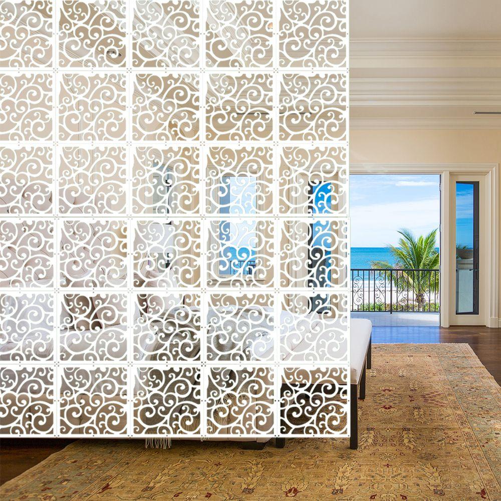 Indoor Decoration 5pcs/lot Display Crane Crane Crane Diaphragm Art and Decor of White Plastic Wood yarn room divider