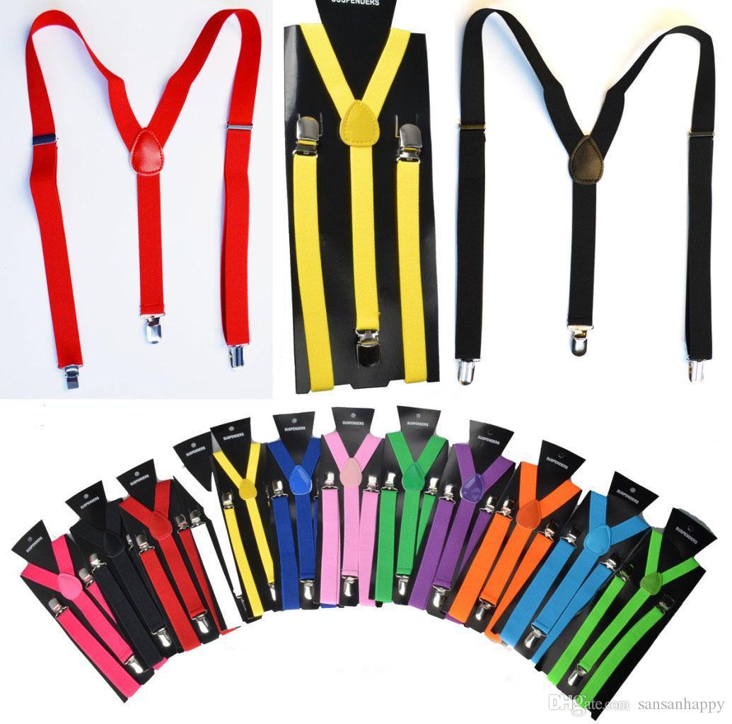 2.5X100CM Women/Man Y-back Adult Adjustable Suspender Clip-on Elastic Suspender Children Belts Baby Straps