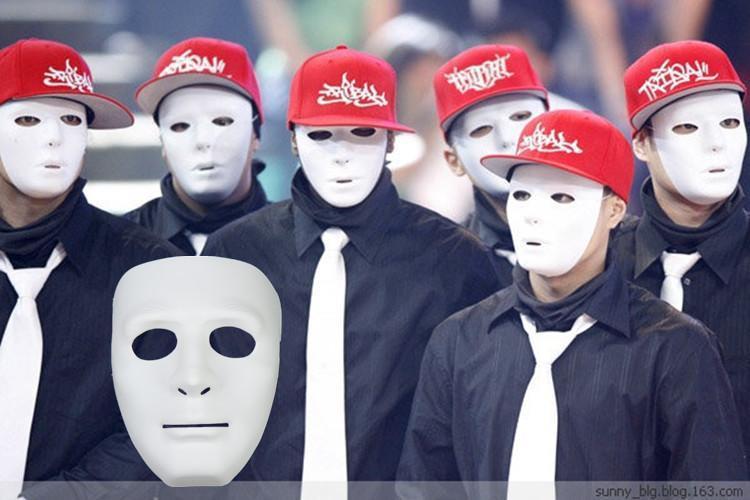 Máscaras Halloween Party Multi Color Hip-Hop Rua Máscara Dançar alta qualidade Jabbawockeez Máscara DHL Fedex envio