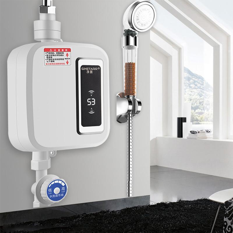 Calentador de agua de 220V Cocina Instantánea eléctrica eléctrica Calentador de agua Calentador Térpulo Temperatura Pantalla Faucet Ducha sin tanque Tap Town T200424