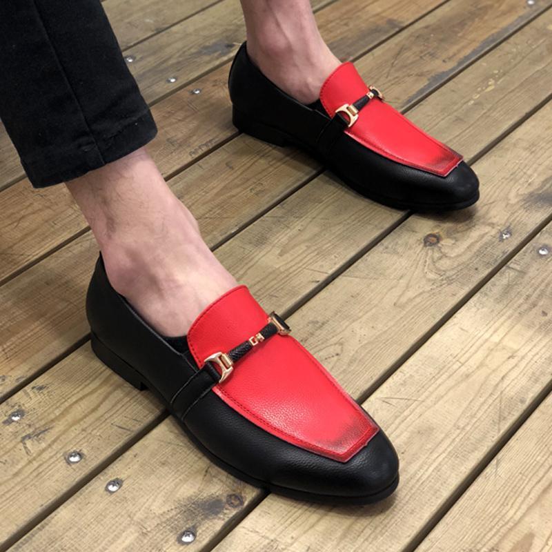 Fairy2019 cuir de Sharp Homme Set Pied Angleterre Doug Chaussures affaires commerciales Augmenter Casual Division Coiffure de chaussures de mariage homme